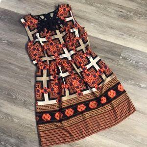EUC Ara Dress sz Medium in vibrant Colors